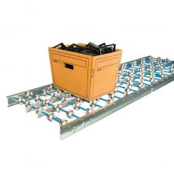 Allseiten-Röllchenbahnen, Röllchen aus Kunststoff Ø 48 mm, LxB 2000x300 mm, Achsabstand 100 mm