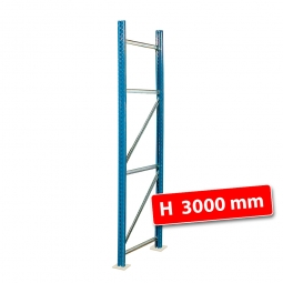 Paletten-Steckregal-Rahmen, zerlegt, HxT 3000 x 800 mm, Profil PN85, Tragkraft 12000 kg