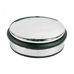 Türstopper, hochglanzverchromt, HxØ 40x100 mm, Rutschfest durch gummierte Unterseite