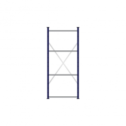 Fachbodenregal Flex mit 4 Fachböden, Stecksystem, kunststoffbeschichtet, BxTxH 870 x 415 x 2000 mm, Tragkraft 250 kg/Boden