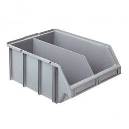 Sichtbox CLASSIC FB 1T mit Trennwand, LxBxH 570/450 x 437 x 245 mm, Gewicht 2,5 kg, 48 Liter, grau