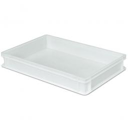 Teiglingbehälter für Pizza Rohlinge, PE-HD, LxBxH 600 x 400 x 90 mm, 17 Liter, weiß