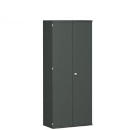 Garderobenschrank PRO, graphit, BxTxH 800x425x1920 mm, 1 Fachboden, 1 Kleiderstange