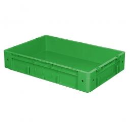 Schwerlast-Eurobehälter, geschlossen, PP, LxBxH 600x400x120 mm, 20 Liter, 2 Griffleisten, grün