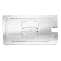 Auflagedeckel Schale GN1/2, mit Löffelaussparung, LxB 325x265 mm, Polycarbonat, glasklar