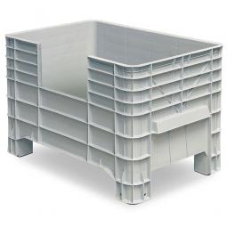 Volumenbox mit 4 Füßen, 276 Liter, LxBxH 1030 x 630 x 670 mm, grau