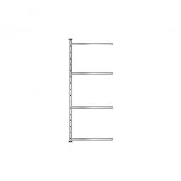 Fachboden-Steck-Anbauregal, glanzverzinkt, HxBxT 2000x835x515 mm, mit 4 Fachböden