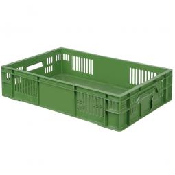 Eurobehälter, geschlitzt, PE-HD, LxBxH 600 x 400 x 140 mm, 26 Liter, grün