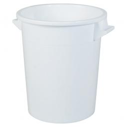 Rundtonne, 75 Liter, Ø oben/unten 495/385 mm, Höhe 570 mm, weiß