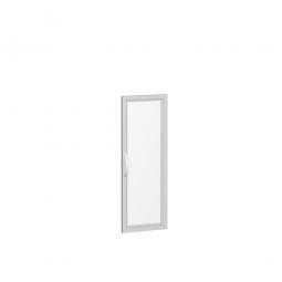 Flügeltür FLEX, 3 Ordnerhöhen, mit Glasausschnitt, Breite 400 mm, mit Metallscharnieren und Türdämpfern