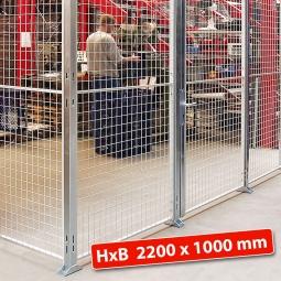 Maschinengitter-Grundelement, 2200 mm hoch, Wandbreite 1000 mm