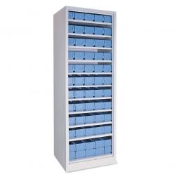 Regal mit Regalkästen, blau, LxBxH 400 x 91 x 81 mm