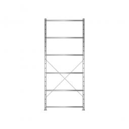 Fachbodenregal Economy mit 6 Böden, Stecksystem, BxTxH 1060 x 335 x 2500 mm, Tragkraft 150 kg/Boden, glanzverzinkt