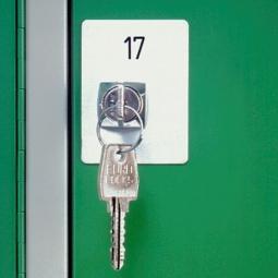 Kunststoff-Nummernschild, HxB 79x45 mm, max. 4-stellige Zahl, Selbstklebend.