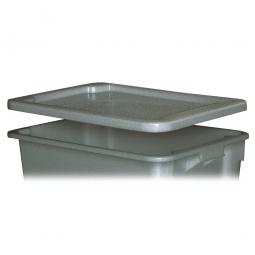 Stülpdeckel für Euro-Dreh- und Stapelbehälter, LxB 600x400 mm, grau, Polyethylen-Kunststoff