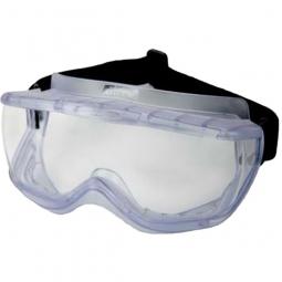 Vollsichtschutzbrille nach EN 166 B, Indirekte Ventilation durch Belüfter, verstellbares Gummiband