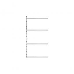 Fachboden-Steck-Anbauregal mit 4 Fachböden, glanzverzinkt, BxTxH 1035 x 415 x 2000 mm