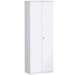Garderobenschrank PRO, weiß, BxTxH 800x425x2304 mm, 2 Fachböden, 1 Kleiderstange
