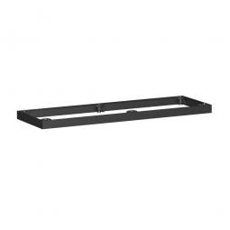 Metallsockel, schwarz, BxH 1200 x 50 mm