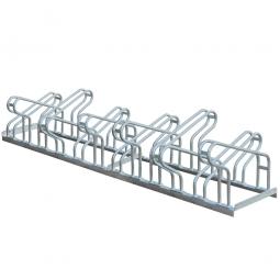 Fahrrad-Bügelparker, feuerverzinkt, Einstellplatz für 12 Fahrräder, zweiseitige Nutzung