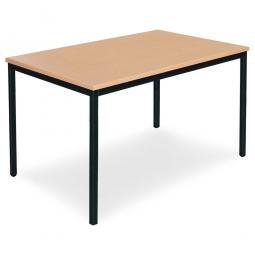 Mehrzwecktisch, Platte und Tischbeine, schwarz/Buche-Dekor, LxBxH 1800 x 800 x 750 mm