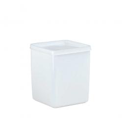 Vorratsbehälter mit dichtschließendem Deckel, 1 Liter, LxBxH 103 x 103 x 127 mm