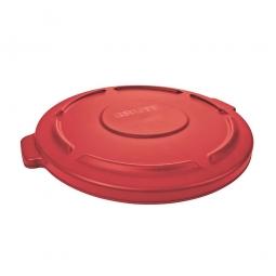 Deckel für Mehrzweckbehälter 121 Liter, rot, Ø 560 mm, Polyethylen-Kunststoff (PE)