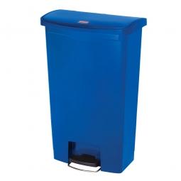 Tretabfalleimer SlimJim, 68 Liter, blau, LxBxH 500x311x803 mm, Polyethylen, Pedal an der Breitseite