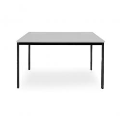 Rechtecktisch, Gestell schwarz, Platte lichtgrau, BxTxH 1200x800x720 mm