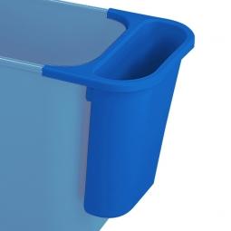 Zusatzbehälter, 4,5 Liter, blau, BxTxH 265x120x295 mm, Polyethylen