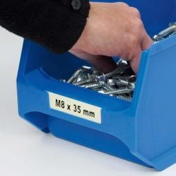 Beschriftungs-Etiketten für Sichtbox PROFI LB4, weiß, LxB 71,5x18,5 mm, VE=100 Stück