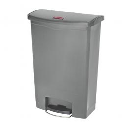 Tretabfalleimer SlimJim, 90 Liter, grau, BxTxH 570x353x826 mm, Polyethylen, Pedal an der Breitseite