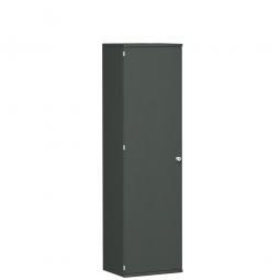 Garderobenschrank PRO, graphit, BxTxH 600x425x1920 mm, 1 Fachboden, 1 Kleiderstange