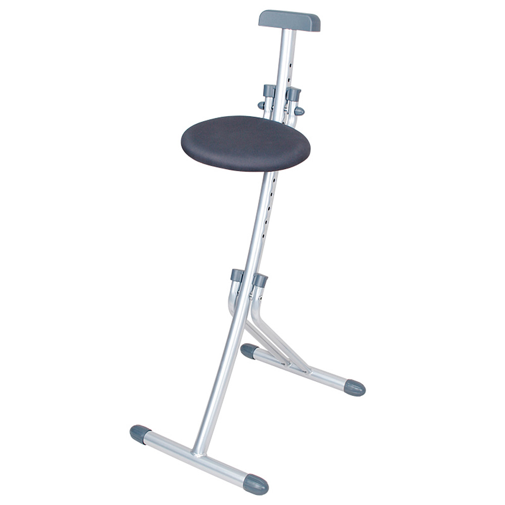 Stehhilfe Klappbar.Stehhilfe Klappbar Stahlrohr Gestell Silber Stoffbezug Grau Sitzhöhe Verstellbar In 13 Stufe Von 450 850 Mm