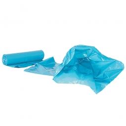Müllsäcke 70 Liter, Stärke 40 µm, VE=250 Stück, BxH 575x1000 mm, Polyethylen-Kunststoff (PE), blau