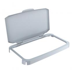 Klappdeckel für Abfall- und Wertstoffbehälter, Rahmen mit Scharnier, einfaches Verbinden mit dem Behälter