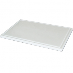 Schneidbrett aus Kunststoff, LxB 600 x 400 mm, 20 mm dick, weiß, lebensmittelecht