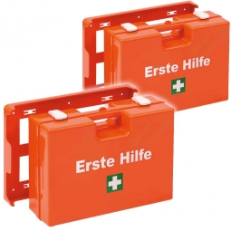 2x Erste-Hilfe-Koffer und 1x Pflasterspender, Ö-NORM Z 1020 Typ I/UVV