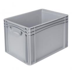 Euro-Geschirrkasten -Profi- LxBxH 400 x 300 x 280 mm, mit 2 Griffleisten, Farbe grau, Inhalt 25,6 Liter