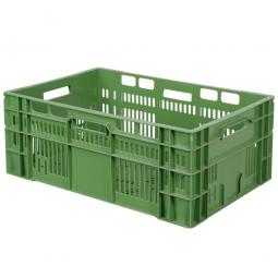 Eurobehälter, geschlitzt, PE-HD, LxBxH 600 x 400 x 240 mm, 46 Liter, grün