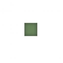 System-Lochplatte, BxH 500x450 mm, Aus 1,25 mm Stahlblech, kunststoffbeschichtet in resedagrün