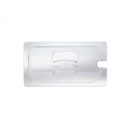 Auflagedeckel f Schale GN1/3, mit Löffelaussparung, LxB 325x176 mm, Polycarbonat, glasklar