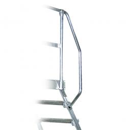 Handlauf aus Aluminium, linke Seite, beidseitig montierbar, passend für 3 + 4 Stufe