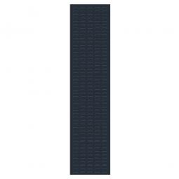 System-Schlitzplatte BxHxT 450x2000x18 mm, Aus 1,25 mm Stahlblech, kunststoffbeschichtet in anthrazitgrau