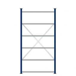 Ordner-Steck-Grundregal, doppelseitige Ausführung, HxBxT 2000x1070x630(2x315 )mm, Oberfläche kunststoffbeschichtet