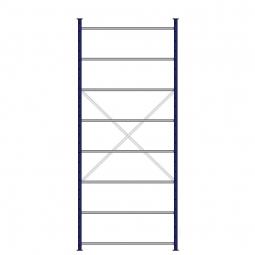 Ordner-Steck-Grundregal, doppelseitige Ausführung, HxBxT 3000x1270x630(2x315), Oberfläche kunststoffbeschichtet