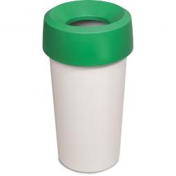 Wertstoffsammler, rund, ØxH 390 x 730 mm, 50 Liter, grün
