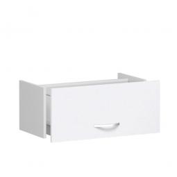 Hängeregistraturschublade FLEX, weiß, Breite 800 mm, hochwertige Metallgriffe in silbermatt