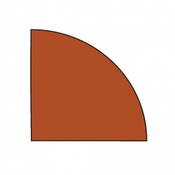 Verkettungsplatte, Viertelkreis, Kirsche, BxT 800 x 800 mm