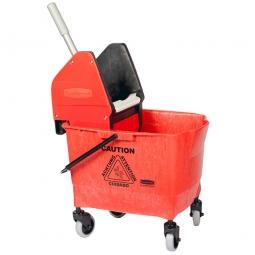 Reinigungswagen mit Mopp-Presse, rot